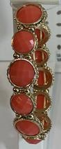 Napier Red/Orange and Gold Round Stretch Bracelet NWT $28 - $11.88