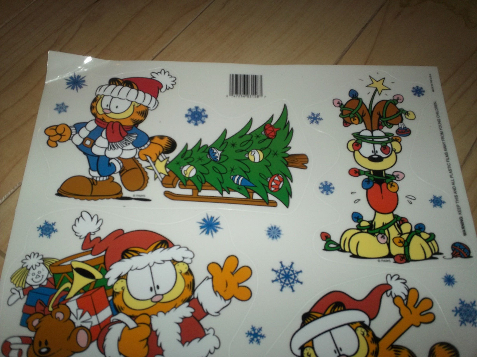 Garfield Christmas Window Clings