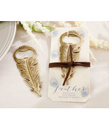 Vintage Antique Gold Peacock Feather Bottle Opener Anniversary Wedding F... - $93.81+