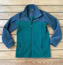 Columbia kids Zip Up fleece jacket size M (10-12) In Grey Green B4 - $15.74