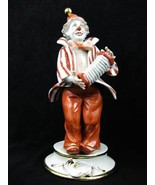 Capodimonte Italy Porcelain Clown Playing Accordion Figurine Signed And ... - $175.00