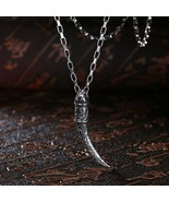 "Chisel Stainless Steel Italian Horn Necklace 22"" for Men - LIFETIME GARU... - $14.69"