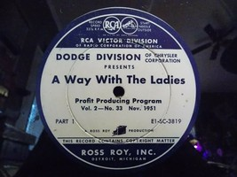 "Vintage Dodge/Chrysler ""A Way With The Ladies"" Dealer Sales/Profit Record  - £13.86 GBP"