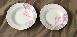 MIKASA SPRING CROCUS Set of Two RIMMED SOUP Cereal BOWLS Lab02  - $12.86