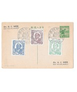 Occupied Philippines 1944 Imperforate N37-N39 FDC on Postal Card NUX3 Dr... - $113,94 MXN