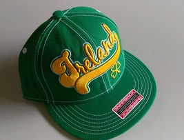 Adidas Bender IRELAND Green Yellow Design Snap-Back Flat Brim - $20.00