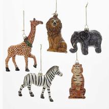 Glittered Wild Animals Ornament - $10.95