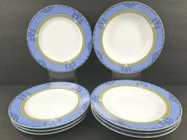 Mikasa French Quarter (4) Rim Soup Bowl (4) Salad Plate Set Vintage L311... - $128.37