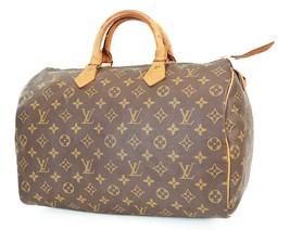 正宗LOUIS VUITTON Speedy 35 Monogram Boston手提包钱包#38070-$ 369.00