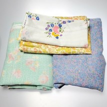 Vintage Floral Fabric Lot 9yds Omega Cranston  - $54.70