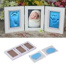 Baby Photo Frame Footprint Handprint Newborn Babyprints Clay Pearhead Ki... - $29.02
