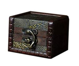 Chinese Style Square Wooden Jewelry Box Cosmetic Case