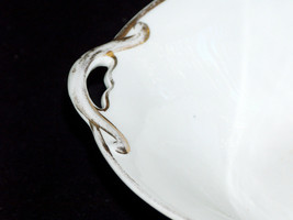 "Antique Noritake M Japan Hand Painted 10"" Gold Rim Handled Bow Serving B... - $27.60"