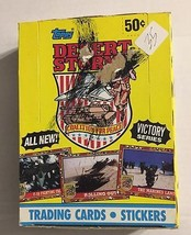 "1991 TOPPS  ""DESERT STORM""  WAX BOX (MINT) VICTORY SERIES 36 COUNT BOX  #35 - $17.96"