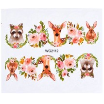 HS Store - 1Pcs WG-2112 Animal Designs Nail Sticker Water Transfer DIY - $2.23