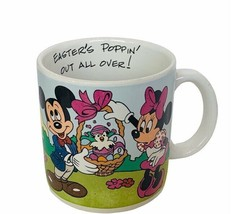 Walt Disney Mug Cup Mickey Minnie Mouse Easter poppin out over applause ... - $33.81
