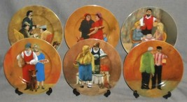 Set (6) Guy Buffet TUSCAN STOREFRONTS PATTERN Salad Plates MADE IN GERMANY - $98.99