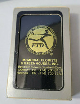 FTD MEMORIAL FLORISTS & GREENHOUSES INC. Deck of Playing Cards   (#36)