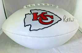 Patrick Mahomes / Autographed Kansas City Chiefs Logo White Panel Football / Coa - $207.85
