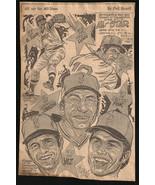 Boston Red Sox Baseball Sports Cartoon Caricature Sketch Newspaper Clip ... - $10.99