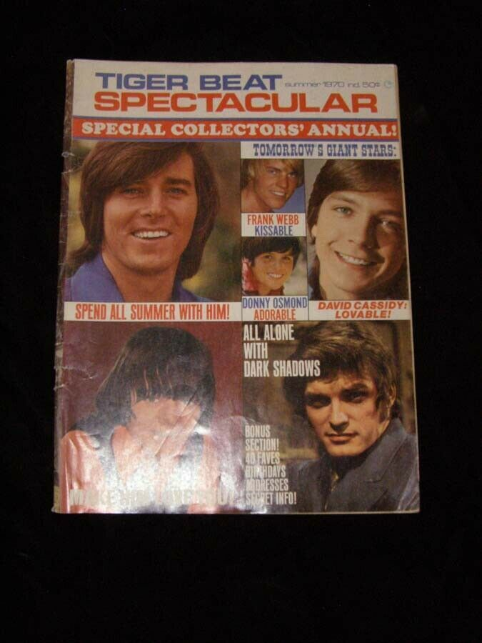 Primary image for Tiger Beat Spectacular Summer 1970 Partridge Family Bobby Sherman Osmonds and mo