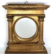"""Florentine Mirror Gold Gilt Wall Hanging 6.5"""" Italy Vtg Lord & Taylor - $29.69"""