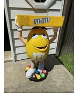 """Yellow M&M Character Large Candy Store Display W/ Storage Tray 44""""Local ... - $198.00"""