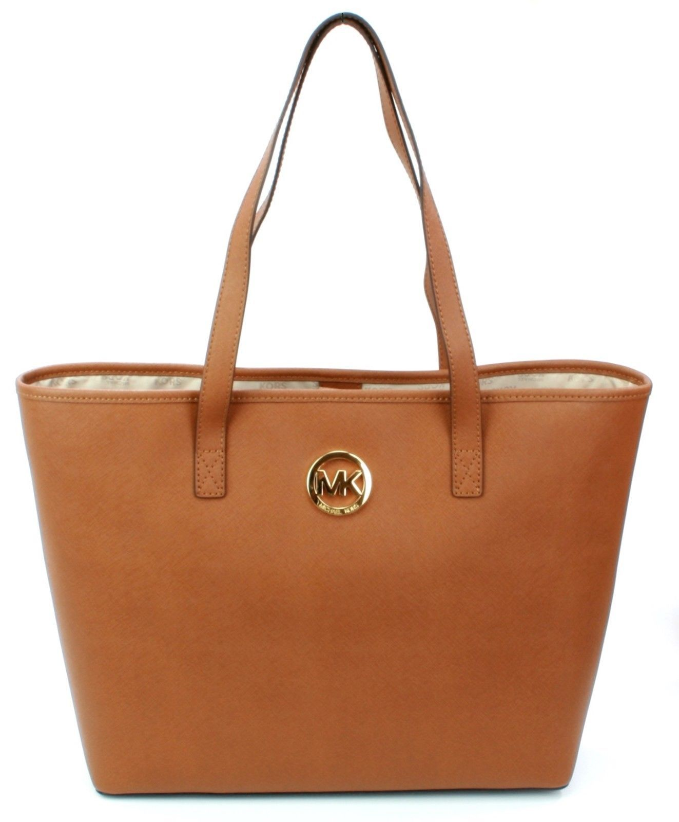 5ac0670944d58 MICHAEL KORS FIRMA saffiano in pelle marrone and 50 similar items