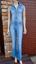 70's Denim Blue Pearl jumpsuit Size L - $26.00