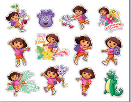 "Dora The Explorer Stickers Decal Sheet Sticker 5.75"" x 4"" Nickelodeon NEW - $2.55"
