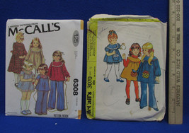 2 Vintage Girls Toddler McCalls Sewing Patterns Dress Top Pants Size 1/2... - $10.88