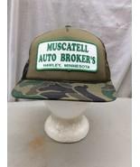 trucker hat baseball cap Vintage Snapback Mesh Patch Hawley MN auto Brok... - $39.99