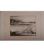 Belgian Namur Wallonia 1740 Etching Print Art Belgium - $31.64