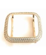Bling Apple Watch Series 4/5/6/SE Bezel Case Face Zirconia Diamond Gold 44 mm - $76.21