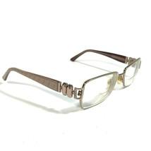 Fendi Rose Gold Brown Beige Monogram Rectangular Eyeglass Frames F883 66... - $42.08