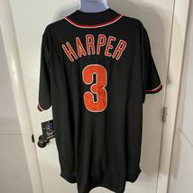 New Men's MLB Philadelphia Phillies Bryce Harper Black Baseball Jersey Size XLT - $69.34
