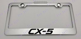 Mazda CX-5 CX 5 Stainless Steel License Plate Frame Rust Free W/ Bolt Caps - $12.86