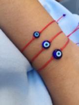 Blue Evil eye bracelet women Evil eye men Red string bracelet Greek mati... - $7.00