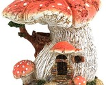 Miniature Fairy Garden Spotted Red Mushroom House Figurine