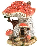 Miniature Fairy Garden Spotted Red Mushroom House Figurine - £23.67 GBP