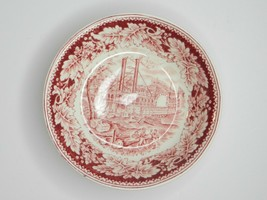 Vintage HOMER LAUGHLIN CURRIER & IVES RED SMALL BERRY SAUCE DESSERT BOWL - $9.90