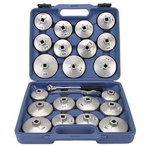 DIFEN Universal Oil Change Filter Cap Wrench Cup Socket Tool Set 23PCS/Set