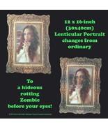 Scary ZOMBIE GIRL LENTICULAR PICTURE PORTRAIT Halloween Haunted House De... - $6.34