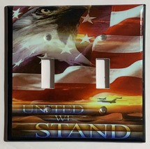 USA United we Stand Eagle Flag Light Switch Outlet Wall Cover Plate Home Decor image 5