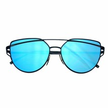 Emblem Eyewear - Women's Modern Retro Flat Reflective Sunglasses Lens - $8.51