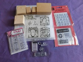 Lot Of 31 pc. Mixed STAMPERS Craft Stamps Cake Tea Shoe Christmas  - $14.84
