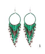 Bohemian Multicolor Beads Tassel Earrings For Women Handmade Boho Ear Vin - $8.59