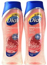 2 Bottles Dial 16 Oz Himalayan Salt Enriching Skin Therapy Exfoliating B... - $21.99