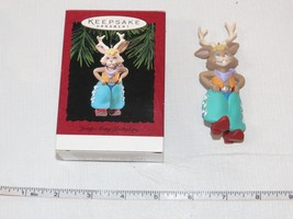 Hallmark  Keepsake Ornament Handcrafted Jump Along Jackalope 1994 Pre-Owned - $17.22