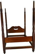 17409 Period Mahogany Carved Canopy Bed – Civil War Era - $985.00